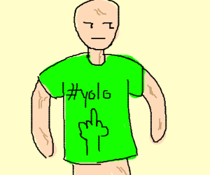 Guy with green shirt with lots of veins