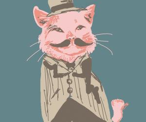 Dapper cat man