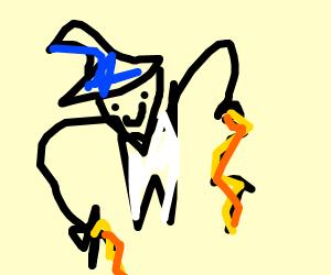 Evil fortune teller makes lightning