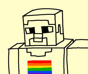 is minecraft steve gay?