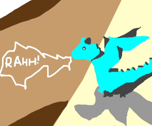 Little blue dragon goes rahh