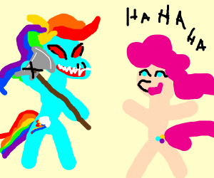 Rainbowdash has murder in her eyes