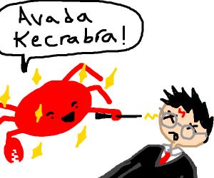 Magical crab defeats harry potter
