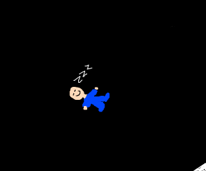 Baby sleeps in the void