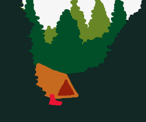 Camping on the woods