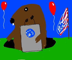 Groundhog is elected president