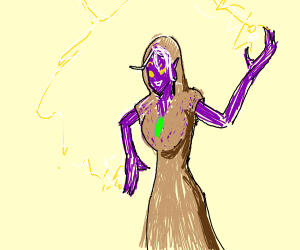 Purple Elf Sorceress