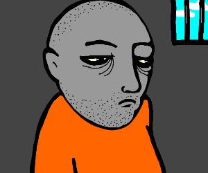 imprisoned man