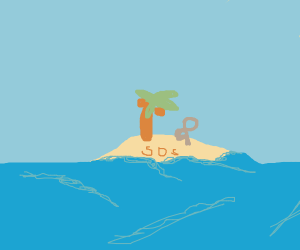 Stranded on an island with 1 coconut tree