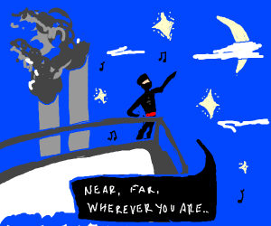 Ninja singing a serenade