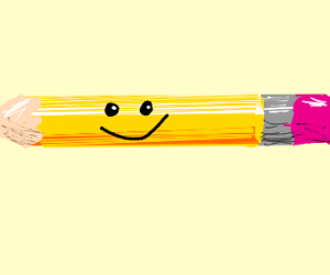 Happy pencil with shading