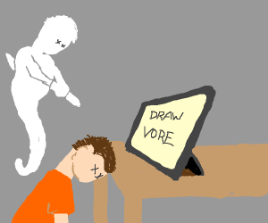 man dissociates after being asked to draw vor