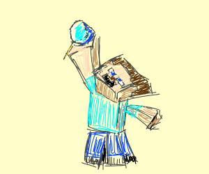 Steve finds diamonds