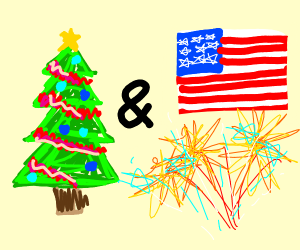 chrismas and 4th of july