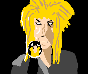 Giorno if he had overgrown bed hair and orb