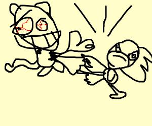 Garfield movie and sonic movie fight