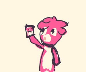 Magby takes a selfie