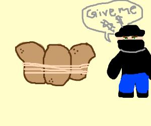potatoes being held hostage