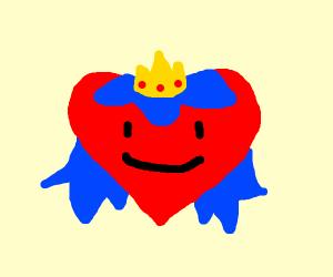 A heart princess with blue hair