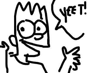 Bart Simpson Saying Yeet