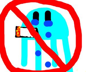 Jellyfish banished for smoking