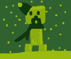 creeper with scarf