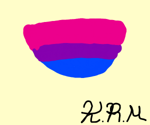 Bisexual pride bowl.