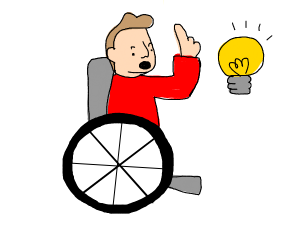 Disabled man has an idea
