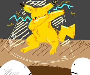 Pikachu on a stage