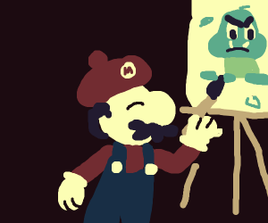Mario but he is a painter, not a plumber