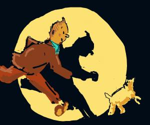 Tintin and Snowy