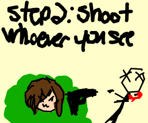 Step 1: be a bush on fortnite - Drawception