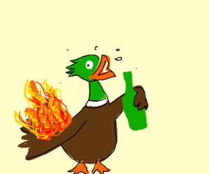 Drunk Duck on Fire