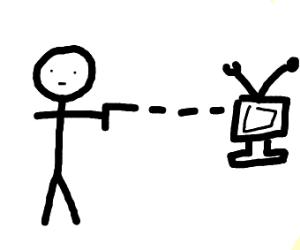 Man shoots his TV