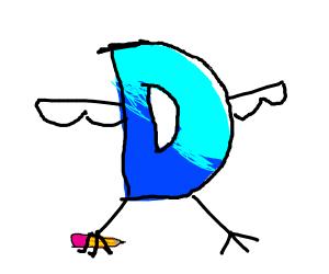 Drawception D as a bird