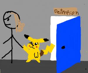 Girl retrieves pikachu from detention