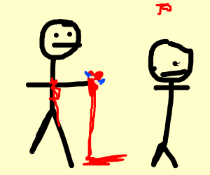 Man gives girl his heart