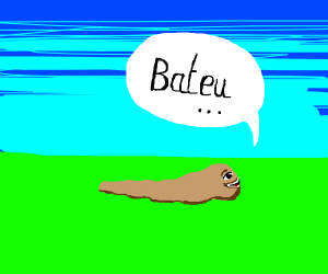 "Slug says ""Bateu"""