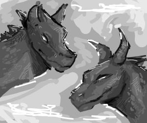 two black dragons
