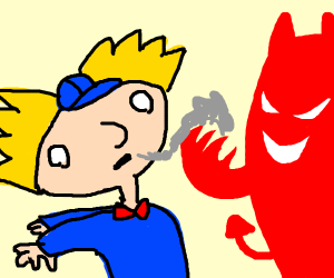 Hey arnold but his soul got stolen by satan