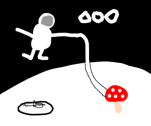 Astronaut found space mushroom