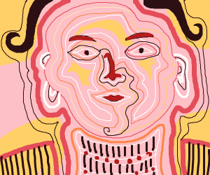 Abstract, Line art face