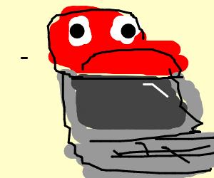 Mario eating a Computer