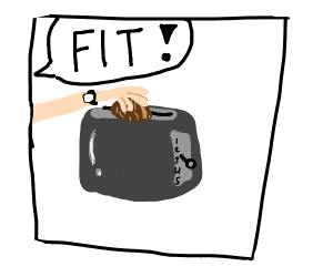 Putting a coconut in a toaster