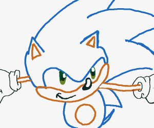 Awe man not sonic again. Gotta Speed