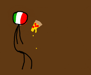 Italy eating pizza
