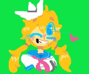 Cute anime salior girl
