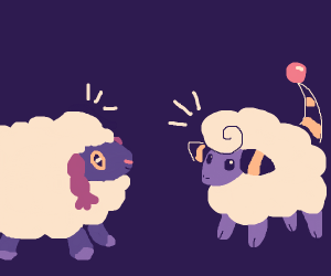 Mareep is friends with wooloo?