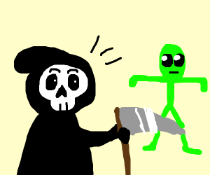 Death meets a Tposing alien