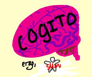 René Descartes big brain (iThinkThere4Iam)